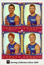 2011 AFL Teamcoach Trading Cards Silver Parallel Team Set Brisbane (11)