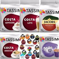 Tassimo Costa Latte Americano Cappuccino Milka Jacobs Cafe Au Lait 56 ☕ 5 Packs