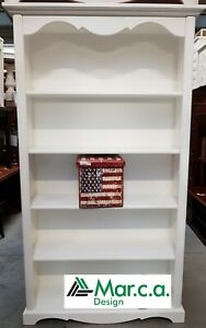 Library Classic 5 Shelves, White Matt CMS 120x40x210H