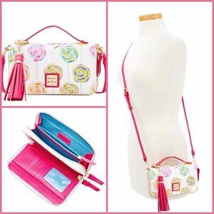 Dooney & Bourke Swirl Lollipop Willis Clutch Sammi Tassel Wallet Crossbody NWT