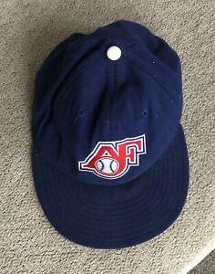 Vintage 1987 Appleton Foxes Minor League Baseball Woven New Era hat