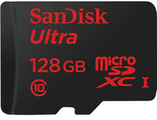 SanDisk Ultra MicroSDXC 128 GB UHS-I Class 10 Memory Card 80 MB/s  with Adapter