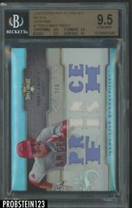 2014 Topps Triple Threads Sapphire Mike Trout Multi Jersey 2/3 Angels BGS 9.5