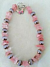 Jewelry / Hand Made Artisan Jewelry Anklet / Peach & White Beaded Anklet