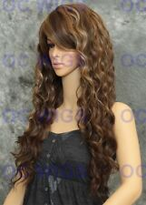 Light Brown/Blonde Mix Long Layered Curly Heat Safe Synthetic Wig WBLU 8/27/613