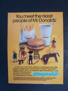 Vtg 1982 Advertisement - Playmobil McDonald's Premium Toy Ad 1980's