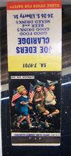 Rare Vintage Matchbook Cover Joe Eders Caridge Patriotic Boys American Flag Hip