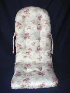Schaukelstuhl - Auflage Polster Kissen Farbe weiß Rose klein