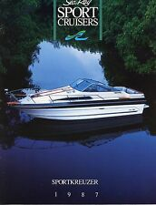 """Alle Texte auf Deutsch: 1987 Sea Ray Boats Brochure """"SportKreuzer"""" 230-300~Rare!"""