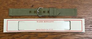 """1940's WW2 New Old Stock Wristwatch Band Strap 16mm 5/8"""" US Military Issue (B1F)"""