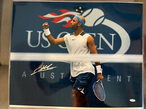 James Blake US Open Signed Autographed 16x20 Photo Picture Steiner COA USTA