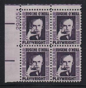 1967 $1 EUGENE O'NEILL Sc 1294 MNH untagged, shiny gum  CV $10