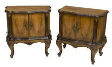 HANDSOME PAIR OF VENETIAN WALNUT FINISH SIDE CABINETS, early 1900s!!!