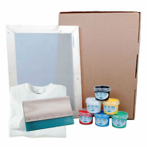 Hunt-The-Moon Screen Printing Kit - Frame, Squeegee Ink and T-Shirt