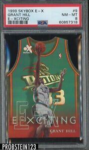 1999 Skybox E-X E-xciting #9 Grant Hill Detroit Pistons PSA 8 NM-MT