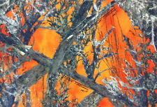 "Camo Fabric MC2 Blaze Orange Fleece Sweatshirt Blanket Hunting True Timber 58""W"