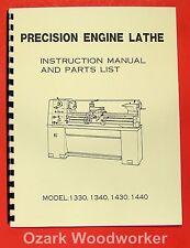 13x30 13x40 14x30 14x40 Lathe Instruction & Parts Manual 0002