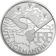 10 euros régions (argent)  Haute Normandie 2010