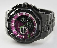 Renato Men's Mostro Black IP Watch, Swiss Ronda 5130.D, Limited Ed, Hand Made