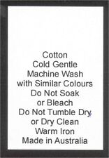 50 Care Labels on soft satin - Cotton Made in Australia