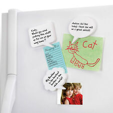 Umbra Talk Thought Bubble Shaped White Board Style Magnets -Set 3 dry erase