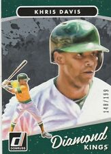 2017 DONRUSS KHRIS DAVIS OF OAKLAND A'S #20 DIAMOND KINGS SILVER /199 HOT!!