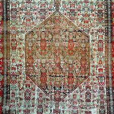 """Authentic Antique Persian senne Senneh Area Rug  4'2"""" x 6'1"""" early 19 C"""