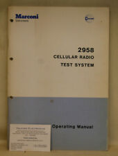 Marconi 2958 Cellular Radio Test Sstem Operating Manual