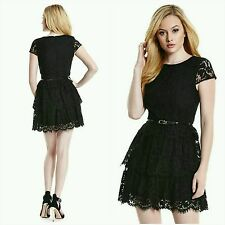 NWT Guess by Marciano black Charlene lace dress size XS