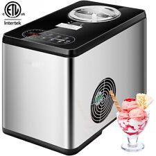 1.6Qt Automatic Ice Cream Maker Machine w/ Compressor Lcd Display, 3 Mode, Timer