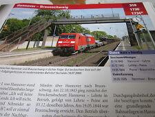 Archiv  Eisenbahnstrecken 310 Hannover Braunschweig