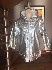 Girls ELLE Coat, Metallic Silver, Age 10, Vgc