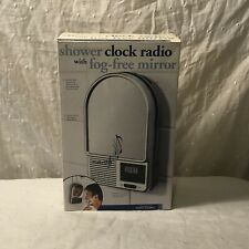 New ListingBrand new in Box Perfect Solutions Shower Clock Radio w/ Fog Free Mirror