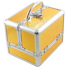 Beauty Case Make Up Nail Art BS35 Gold Valigia Cofanetto Porta Gioie Oggetti