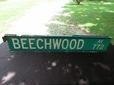 "Authentic Vintage Beechwood Avenue 772  Street Road Sign 54"" X 9 1/2"""