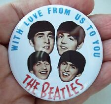 Beatles 'With Love' LARGE REPRO 2.2inch / 56mm BADGE