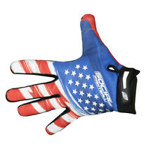 Social Paintball Grit Deluxe Gloves - Usa Flag - Red White Blue - Medium Med M