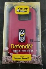 Red Samsung galaxy S7 Otter Defender w/ belt clip holster *fast shipping*