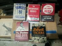 5x Vintage MLB Baseball Books - Putname Sports Series Etc Tigers Lieb Braves...