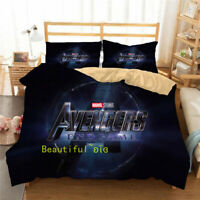 The Avengers END GAME Single/Double/Queen/King Bed Doona/Quilt/Duvet Cover Set