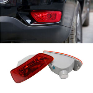 For Jeep Grand Cherokee Compass Journey Red Reflector Housing Fog Light Cover