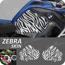 2 Adesivi Fianco Serbatoio Moto BMW R 1200 gs adventure LC ZEBRA SKIN