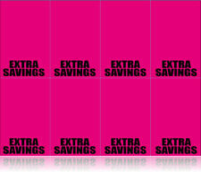 Extra Savings Shelf Signs-Neon Pink-Retail Display Price Cards-400 signs