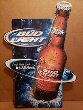 "Vintage Bud Light Beer Metal Tin Sign Budweiser Rare 2004. 26-1/2"" x 18-1/2"""