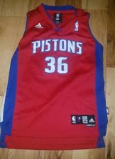 Boys Youth Adidas Rasheed Wallace Detroit Pistons Basketball Jersey Size Medium