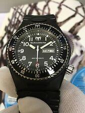 Technomarine APNEA G1 Black GENT WITH EXTRA New STRAP divers Watch 300m
