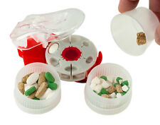 Medifacx ProRxDisc Pill Cutter with 18 Cavities + Catch Cup + 2 Spare Containers