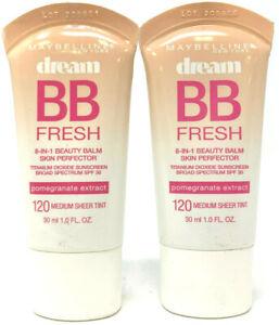 (2) Maybelline Dream BB Fresh Beauty Balm 120 - Medium Sheer Tint Exp: 8/2021