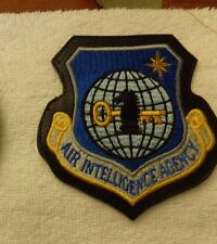 U.S.A.F. PATCH, AIR INTELLIGENCE AGENCY, ON LEATHERETTE WITH HOOK LOOP FASTENER