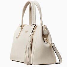 NWT Kate Spade Naomi Satchel Winter White Leather Crossbody Handbag